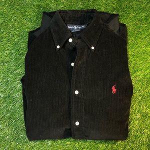 Vintage Polo Ralph Lauren Corduroy Black Shirt L